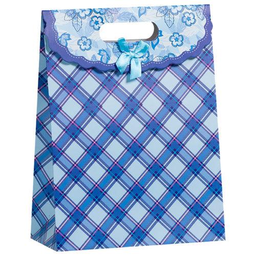 Пакет подарочный 23 x 31 x 11 Васильки синий