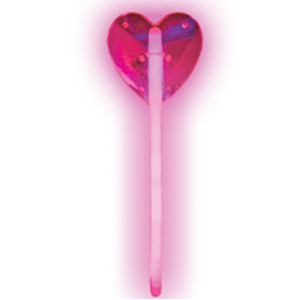 Палочка Сердце светящаяся розовая