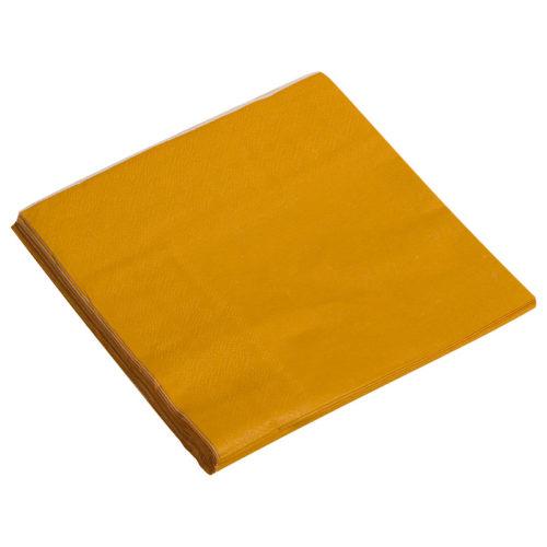 Салфетки 33см X 33см Однотонные Оранжевый 20 штук