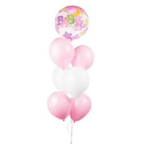 Связка розовых шаров для малышки