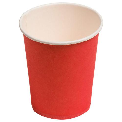 Тарелки бумажные 23 см Однотонные красный 6 штук