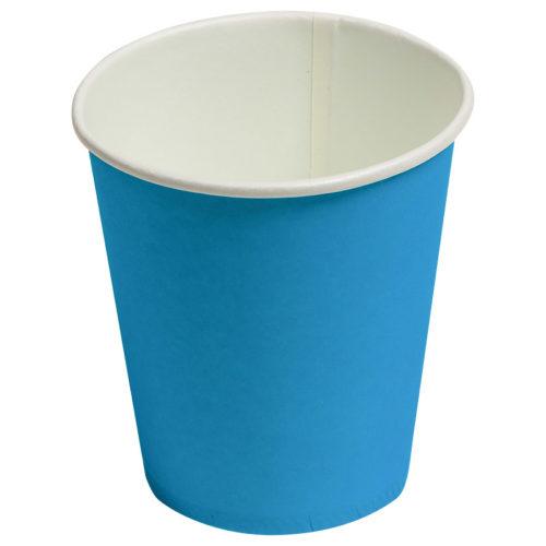 Стаканы бумажные 180 мл Однотонные Синий 6 штук