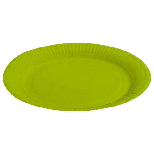Тарелки бумажные 17 см Однотонные Зеленый 6 штук