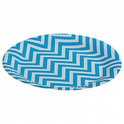 Тарелки бумажные 23 см Голубые зигзаги 6 штук