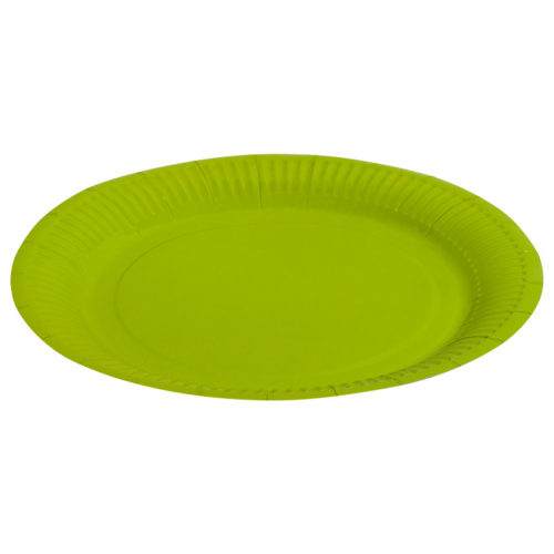 Тарелки бумажные 23 см Однотонные Зеленый 6 штук