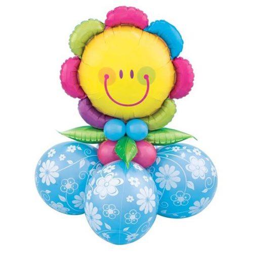 Цветочек на стойке из воздушных шаров