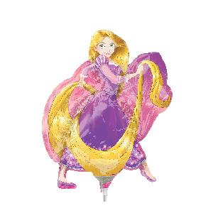 Шар 23 см Мини-фигура Рапунцель золотые волосы