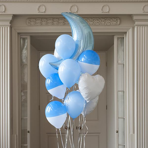 Комплект для фото из шаров Лунный голубой