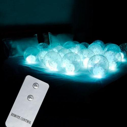 Светящиеся шары с воздухом 15 штук с пультом управления