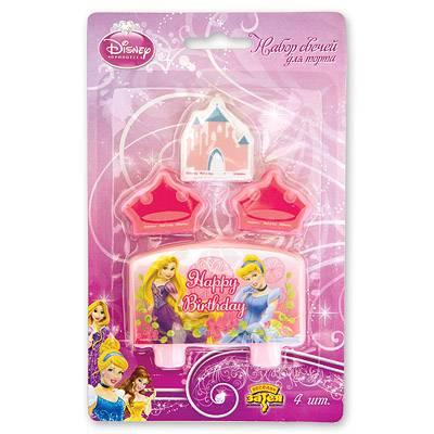 Свечи для торта Disney Принцессы 4 шт