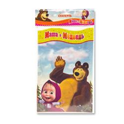 Скатерть п-э Маша и Медведь 130 х 180см
