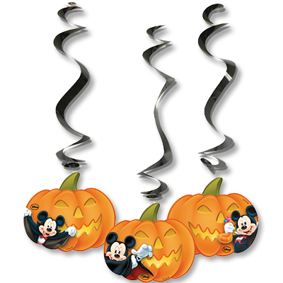 Спирали Микки Хэллоуин 3 штуки