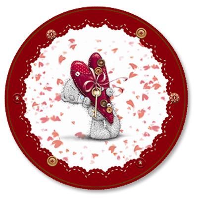 Тарелки бумажные 23 см Me to You RED 8 штук