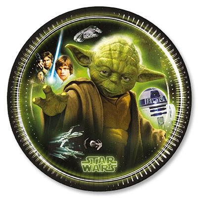 Тарелки 20 см Звездные Войны Герои 8 штук