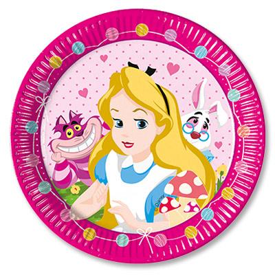 Тарелки 23 см Алиса в Стране Чудес 8 штук