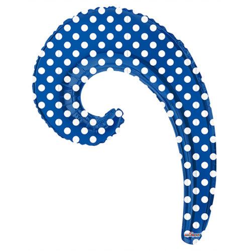 Шар 36 см Мини-фигура Волна ROYAL BLUE в горошек