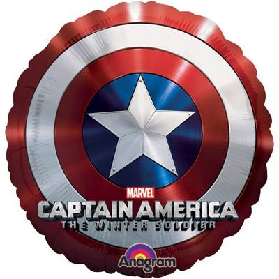 Шар 81 см Круг Капитан Америка