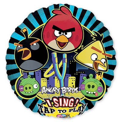 Шар 71 см Круг музыкальный Angry Birds