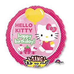 Шар 71 см Круг музыкальный HB Hello Kitty