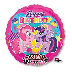 Шар 71 см Круг музыкальный HB My Little Pony