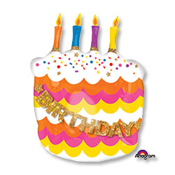 Шар 81 см Фигура Тортик со свечками