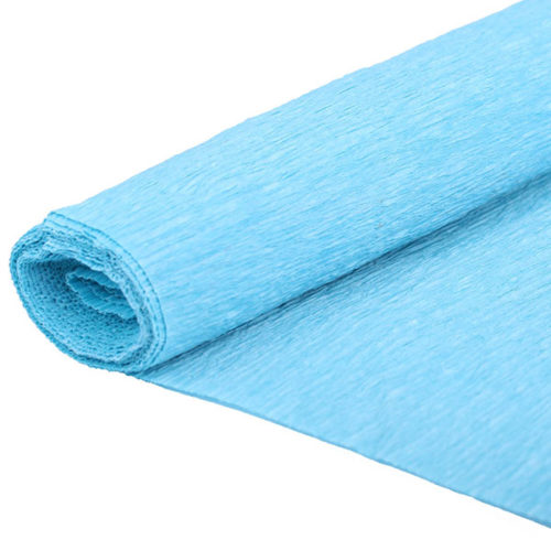 Бумага гофрированная голубая № 33 120 г 50х250см