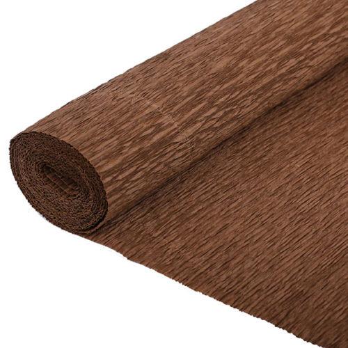 Бумага гофрированная коричневая № 23 120 г 50х250см