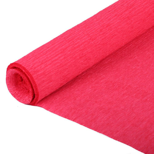 Бумага гофрированная красная № 4 120 г 50х250см