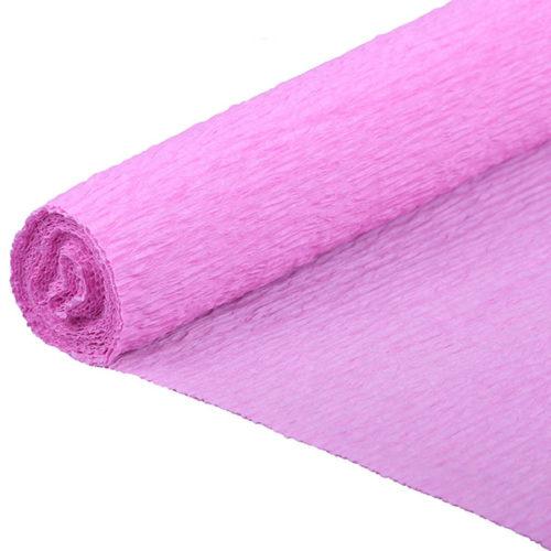 Бумага гофрированная розовая № 52 120 г 50х250см