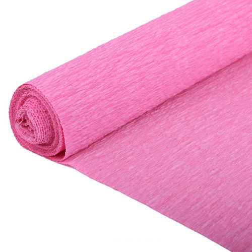 Бумага гофрированная розовая № 6 120 г 50х250см