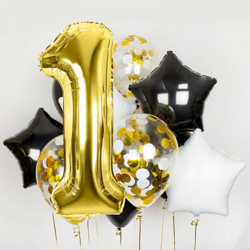 Комплект шаров 1 годик Стильный