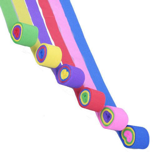 Лента из гофрированной бумаги разноцветная 6 шт х 10 м