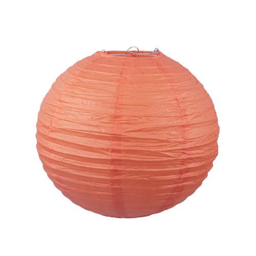 Подвесной фонарик 25 см Стандарт оранжевый