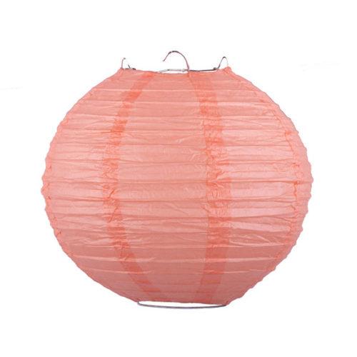 Подвесной фонарик 25 см Стандарт персиковый