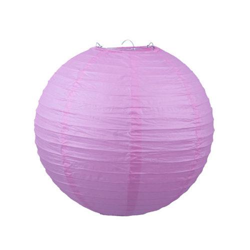 Подвесной фонарик 25 см Стандарт розовый