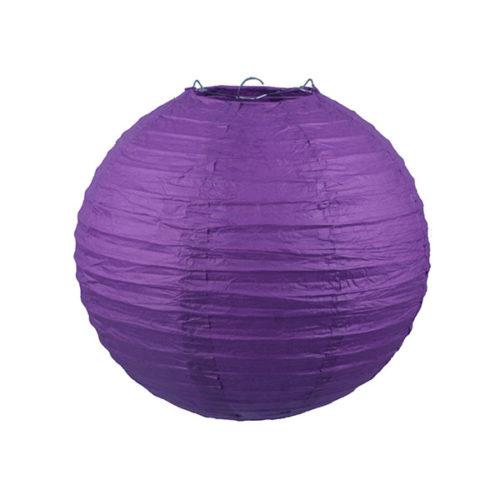 Подвесной фонарик 25 см Стандарт фиолетовый