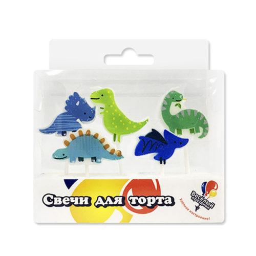 Свечи Динозавры 5 шт
