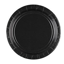 Тарелка бумажная 17 см Jet Black Черный 8 шт
