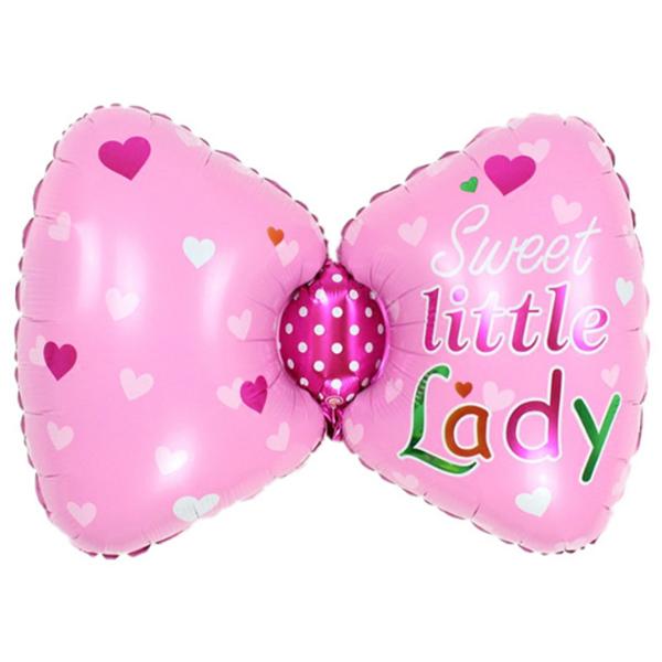 Шар 66 см Фигура Бантик для девочки Розовый