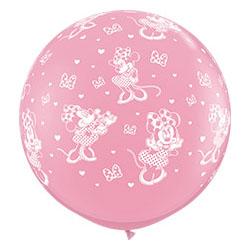 Шар 90 см Disney Минни Маус Розовый Пастель