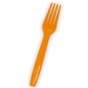 Вилки пластиковые пластиковые Делюкс Оранжевые 12 штук