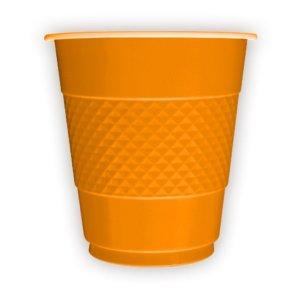 Стаканы пластиковые 210 мл Делюкс Оранжевые 10 штук