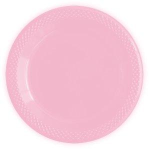 Тарелки пластиковые 15 см Делюкс Розовый 10 штук