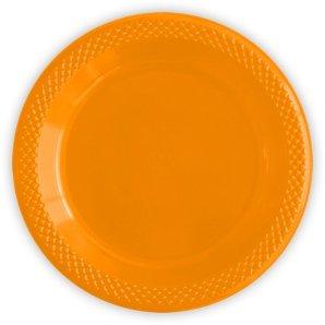 Тарелки пластиковые 23 см Делюкс Оранжевые 10 штук