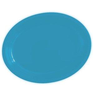 Тарелки сервировочные пластиковые 25 х 32 см Делюкс Карибы 5 штук