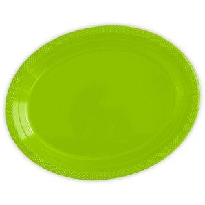 Тарелки сервировочные пластиковые 25 х 32 см Делюкс Лайм 5 штук
