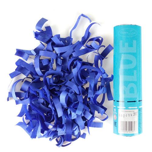 Пневмохлопушка 20 см Голубое конфетти