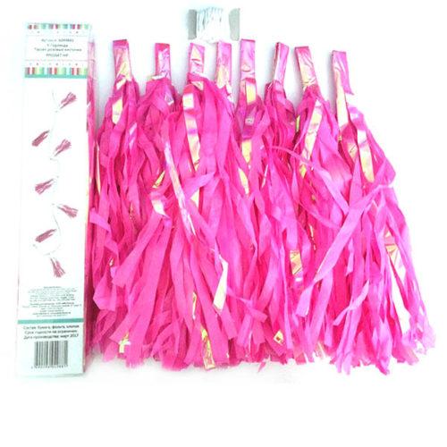 Праздничная гирлянда Тассел розовые кисточки 8 штук