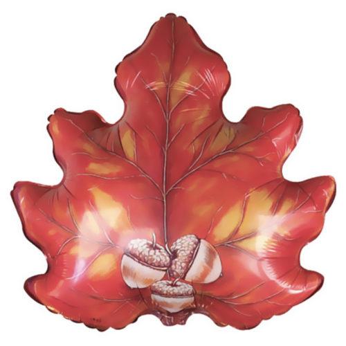 Шар 56 см Фигура Осенний лист с желудями