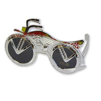 Очки Мотоцикл серебряный